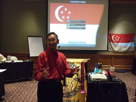 Ernest Chen Best Table Topic Speaker