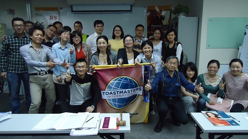 Ernest Chen in Lighthouse Toastmasters Club in Shanghai