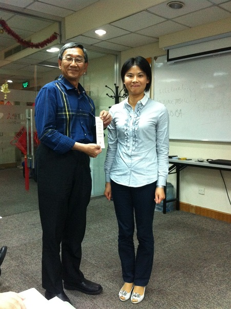 With President Lighthouse Toastmasters Club